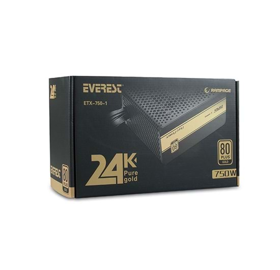 RAMPAGE ETX-750-1 750 WATT 80+ GOLD POWER SUPPLY